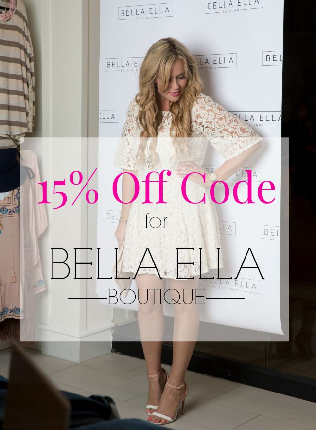 15 off bella ella boutique coupon code the quiet grove for Ella s kitchen coupons