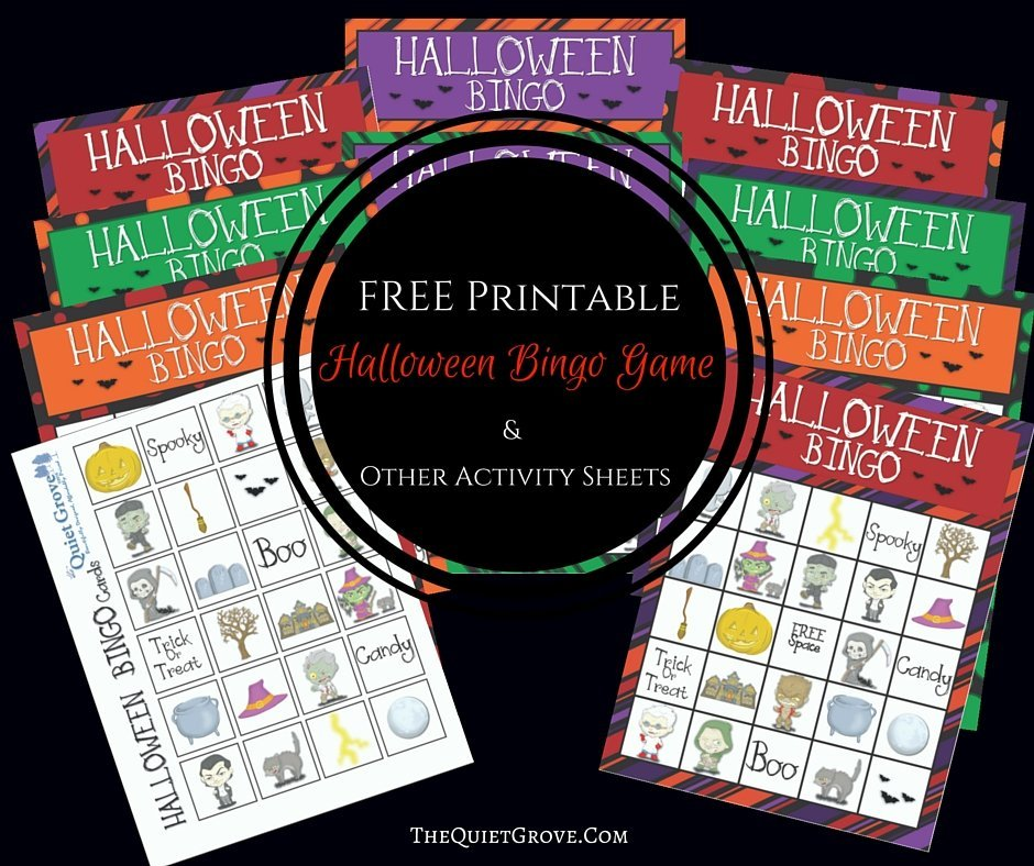 graphic about Free Printable Halloween Bingo Cards identify Totally free Printable Halloween Bingo Recreation Other Sport Sheets