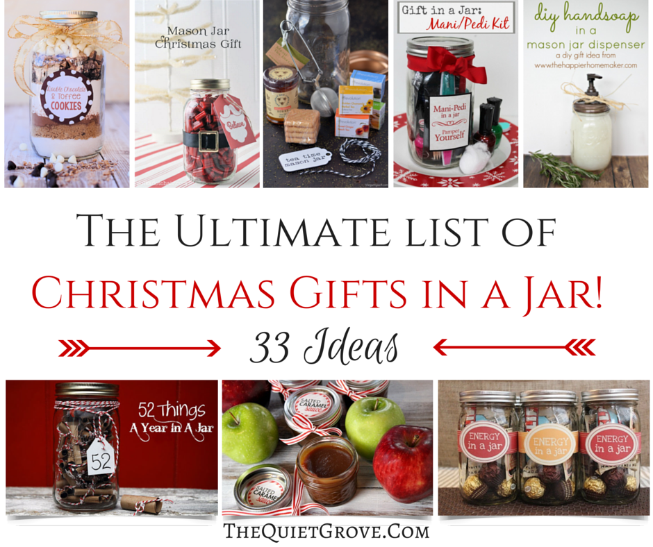 Jarred Christmas Gifts: The Ultimate List Of Christmas Gifts In A Jar! (33 Ideas