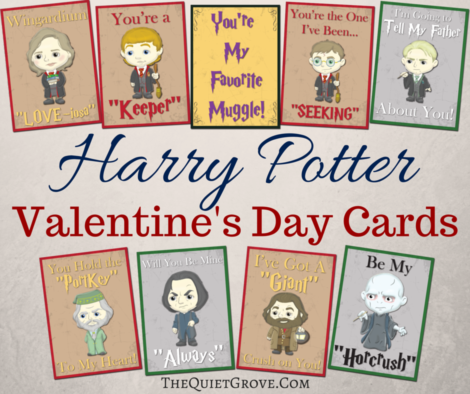 Free Printable Harry Potter Valentine Cards The Quiet Grove