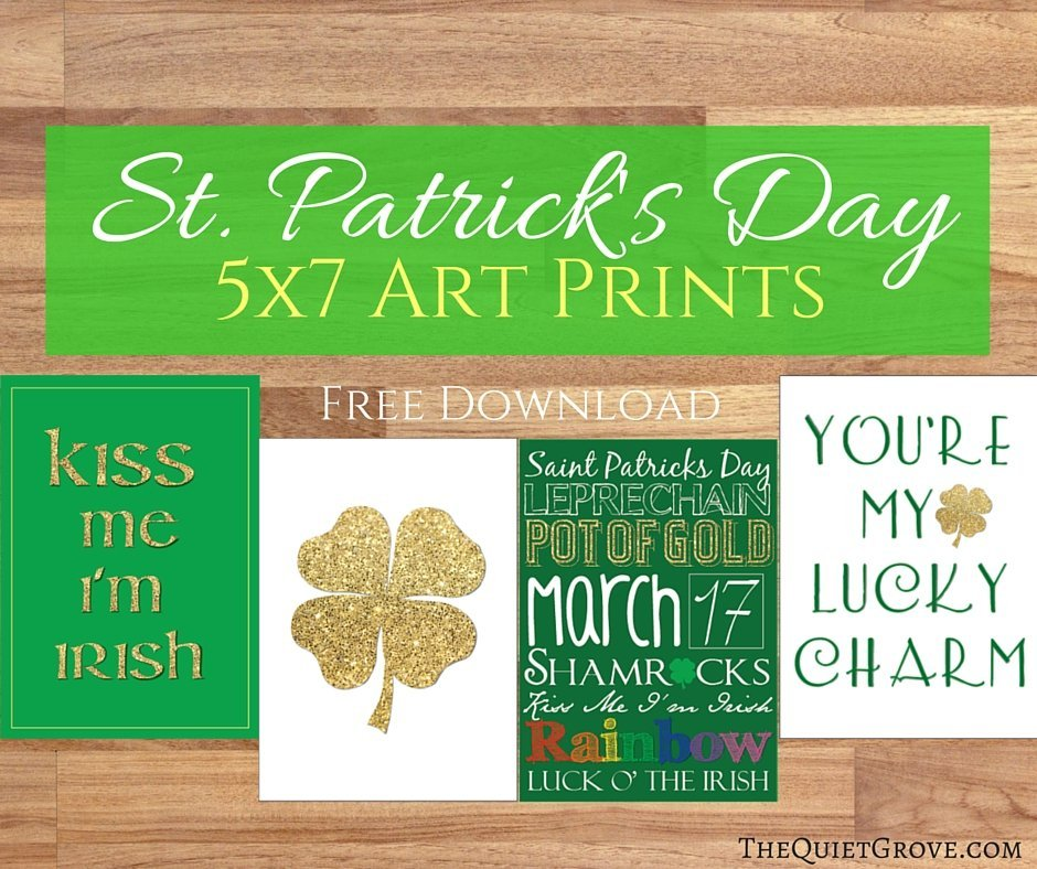 free 5x7 st. patrick's day art prints ⋆ the quiet grove