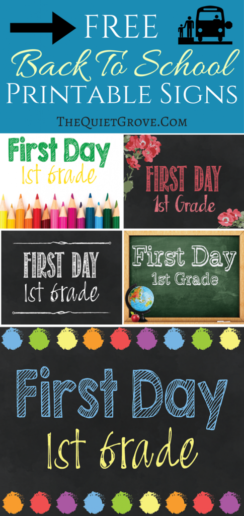 graphic about Free Printable Back to School Signs called 5 No cost Again towards College or university Printable Signal Sets ⋆ The Calm Grove
