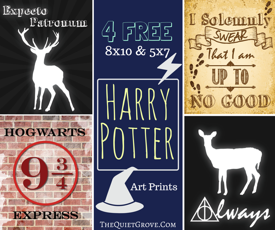 Free Harry Potter Art Prints The Quiet Grove