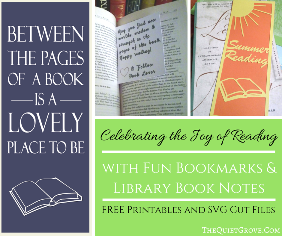 free bookmarks  u0026 library book note   printable and svg cut