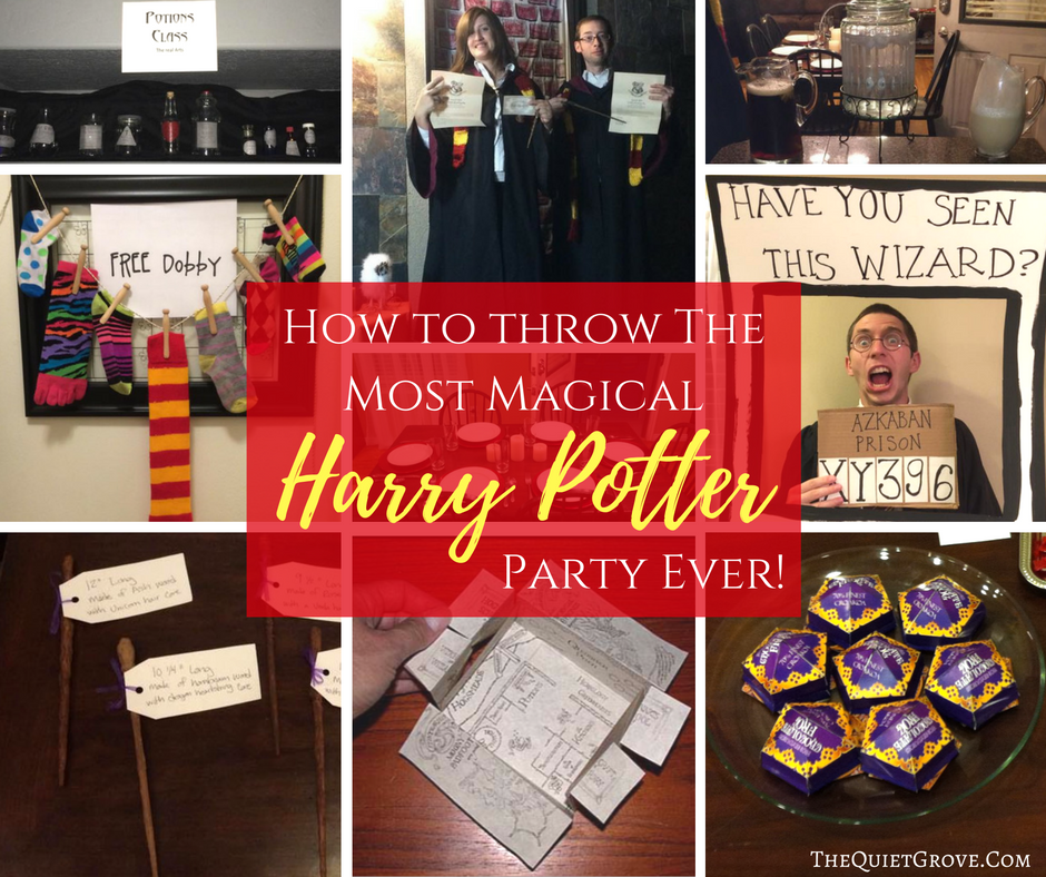 FREE Harry Potter Party Printables! ⋆ The Quiet Grove