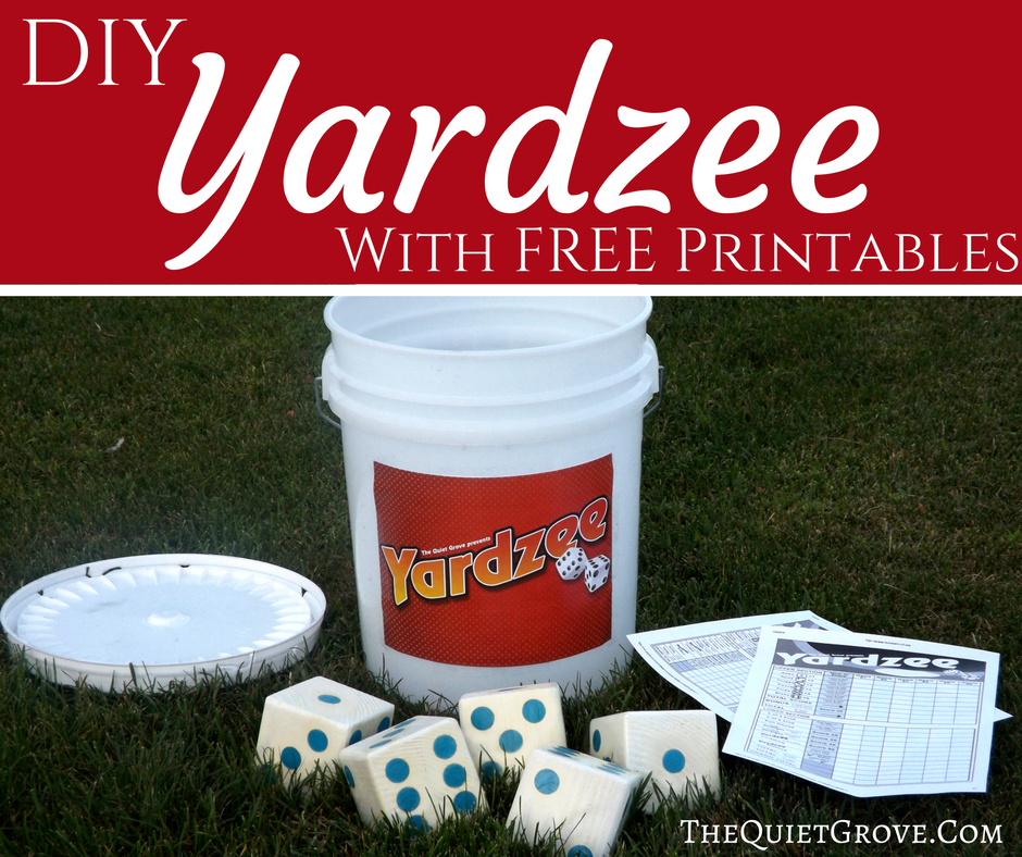 picture regarding Yardzee Rules Printable called Do-it-yourself Yardzee Preset! ⋆ The Serene Grove