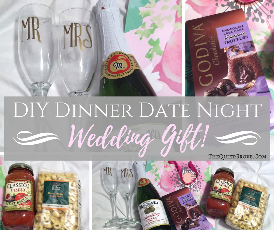 Gifts For Wedding Night: DIY Dinner Date Night Wedding Gift! ⋆ The Quiet Grove