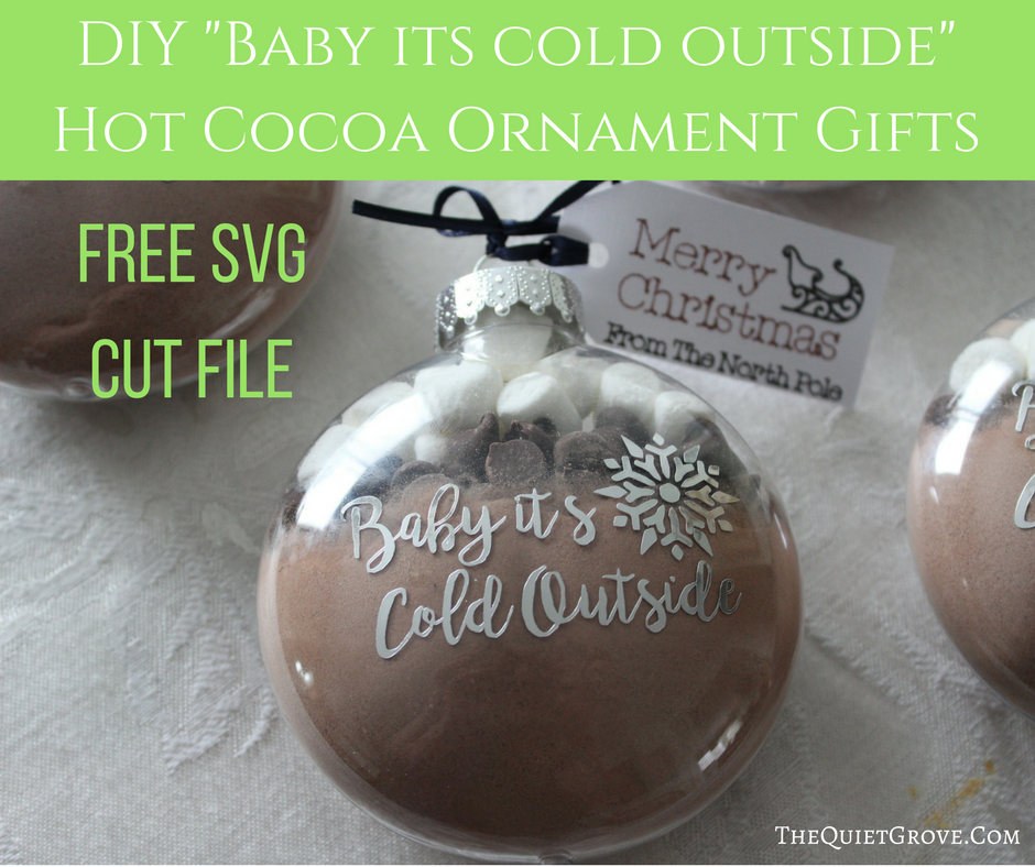 Diy Baby It S Cold Outside Hot Cocoa Ornament Gift ⋆ The