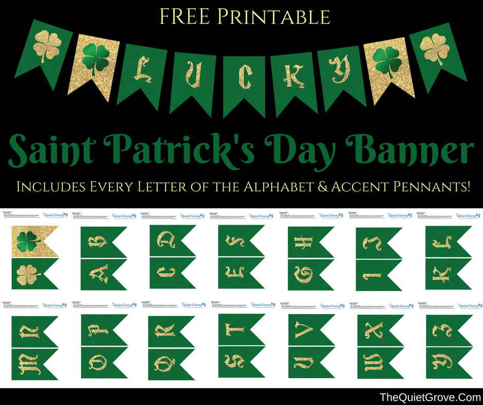 Free Printable St Patrick S Day Banner ⋆ The Quiet Grove