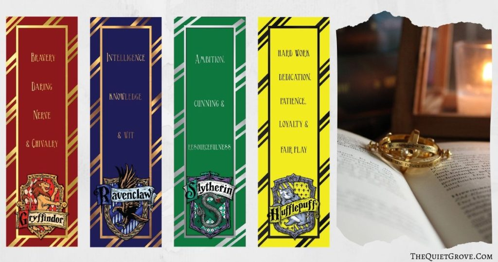 image regarding Printable Harry Potter Bookmarks known as No cost Harry Potter Printable Bookmarks ⋆ The Tranquil Grove