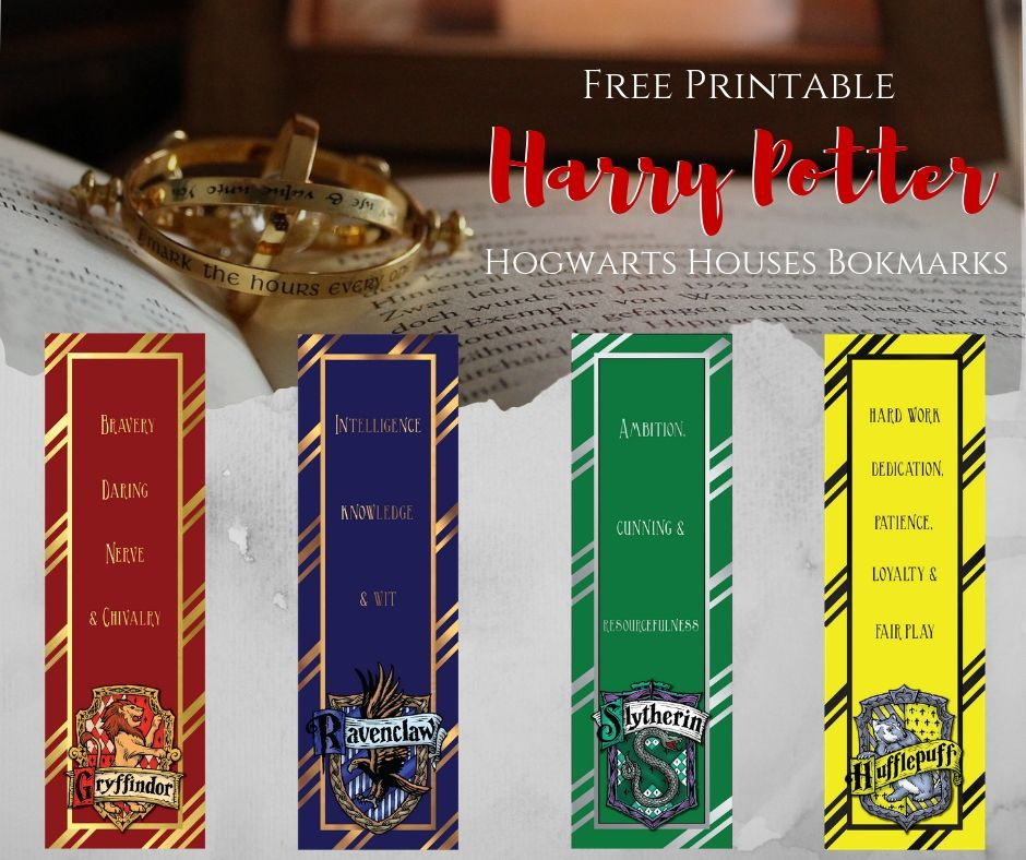 graphic regarding Printable Harry Potter Bookmarks called Free of charge Harry Potter Printable Bookmarks ⋆ The Serene Grove