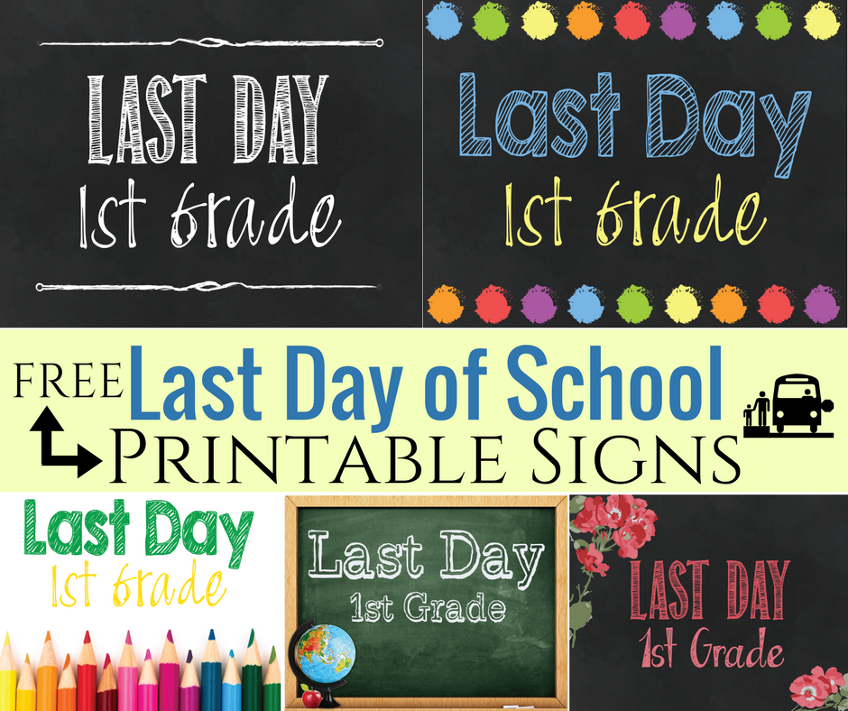 photo regarding Free Printable Signs identified as Absolutely free Printable Remaining Working day of College Indicators! ⋆ The Calm Grove