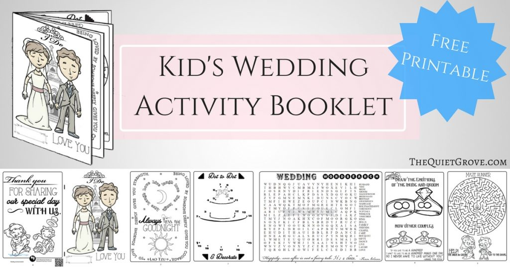 Free Printable Kid's Wedding Activity Booklet! ⋆ The Quiet ...