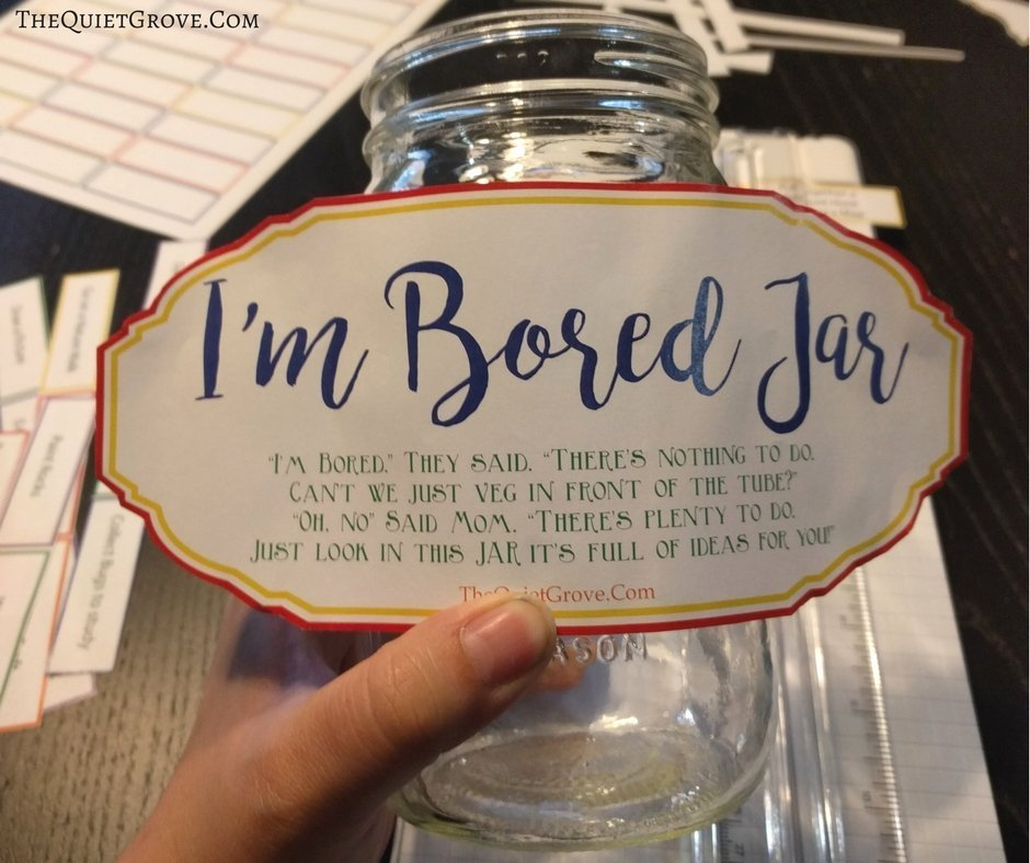 Overcoming Summer Boredom With An Easy Diy I M Bored Jar And I M Bored Box The Quiet Grove