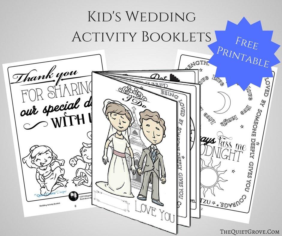 Free Printable Kid's Wedding Activity Booklet! ⋆ The Quiet Grove