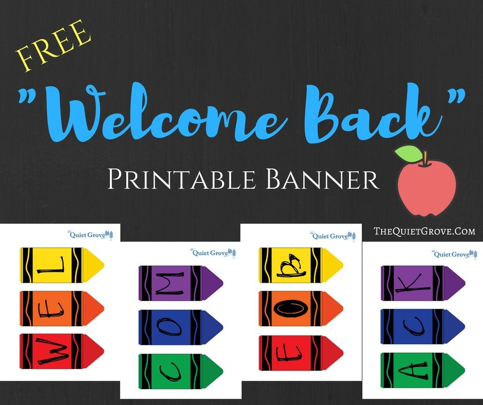 graphic about Free Printable Welcome Banner called No cost Printable \