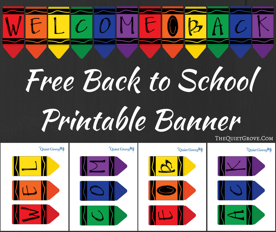 Accomplished image inside free printable welcome banner