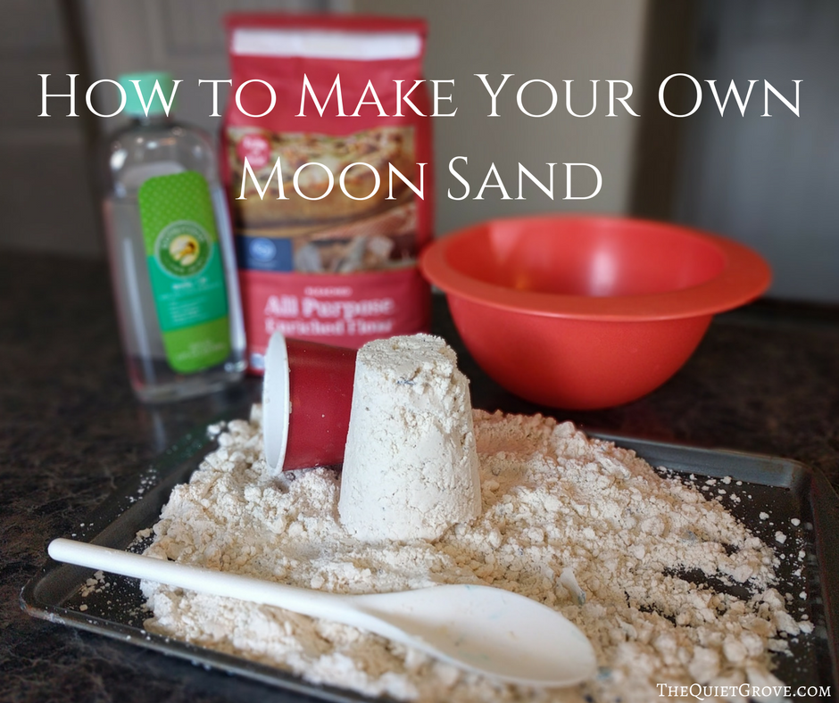 How To Make Your Own Moon Sand ⋆ The Quiet Grove