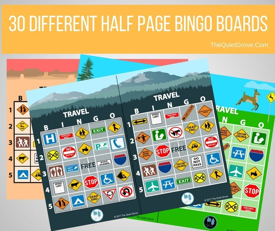 photo regarding Travel Bingo Printable named Totally free Push Bingo Printables ⋆ The Serene Grove