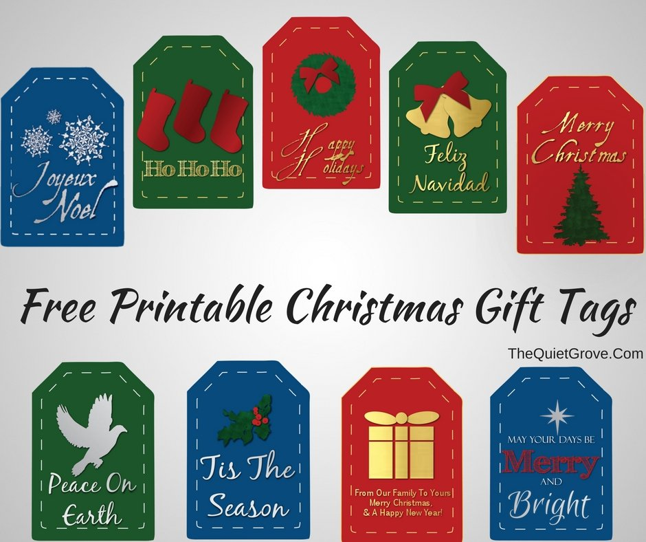 photo about Christmas Bag Toppers Free Printable known as Cost-free Printable Xmas Present Tags and Take care of Bag Toppers