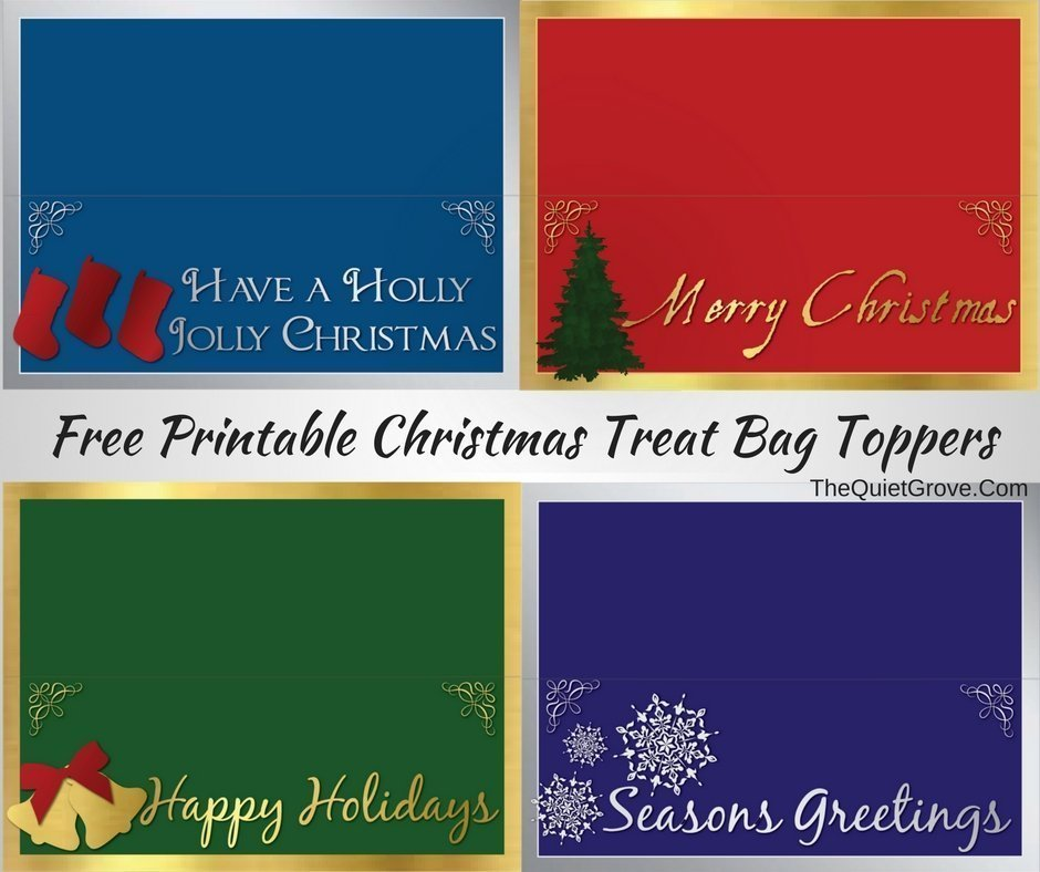 photograph regarding Christmas Bag Toppers Free Printable referred to as No cost Printable Xmas Reward Tags and Deal with Bag Toppers
