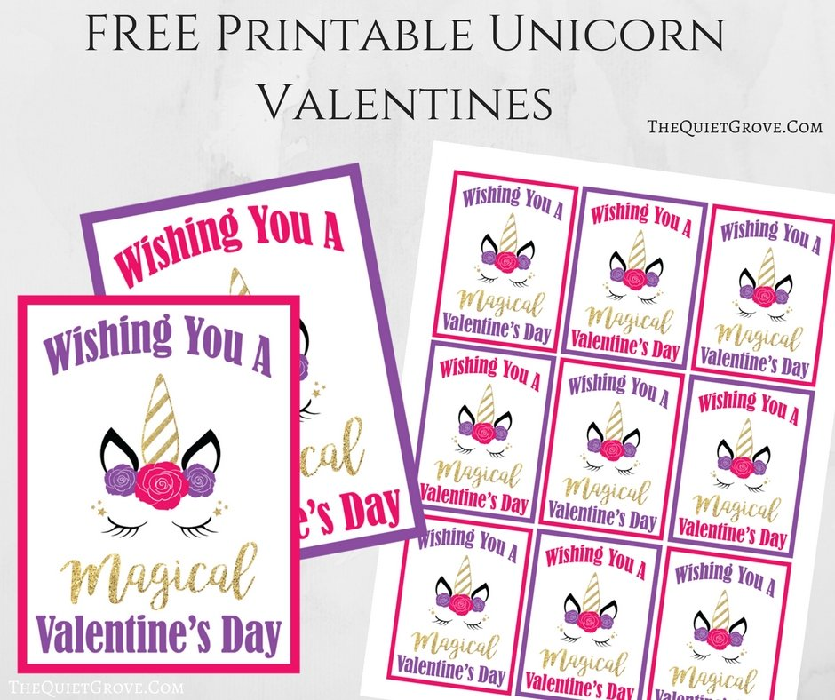 photo regarding Free Printable Unicorn Valentines identified as Cost-free Printable Unicorn Valentines ⋆ The Relaxed Grove