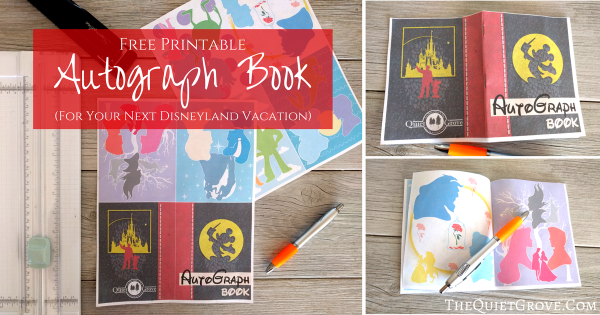 Free Printable Autograph Book For Your Next Disneyland
