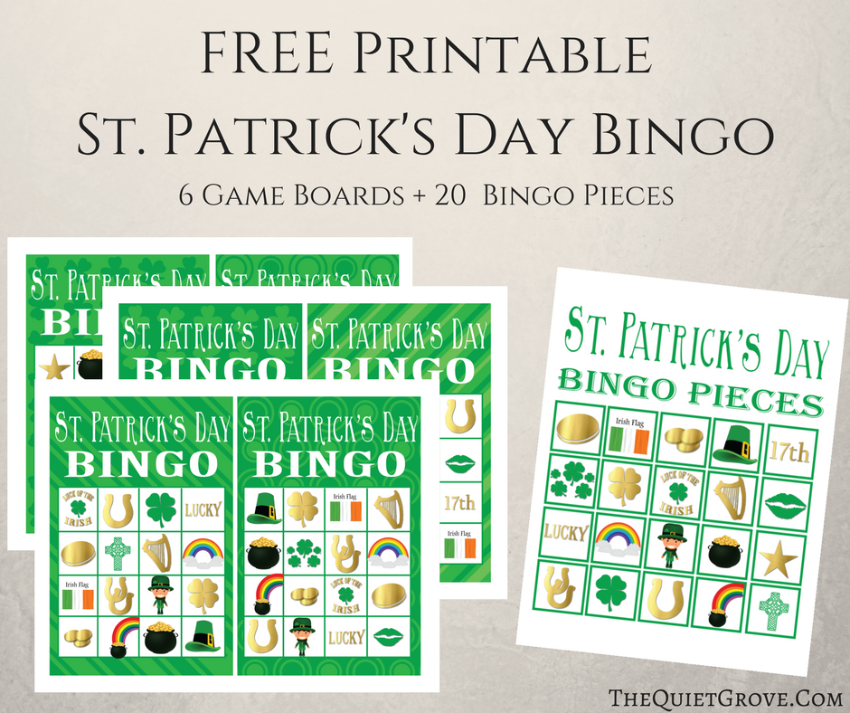 picture relating to St Patrick's Day Bingo Printable identify Absolutely free Printable St. Patricks Working day BINGO ⋆ The Relaxed Grove