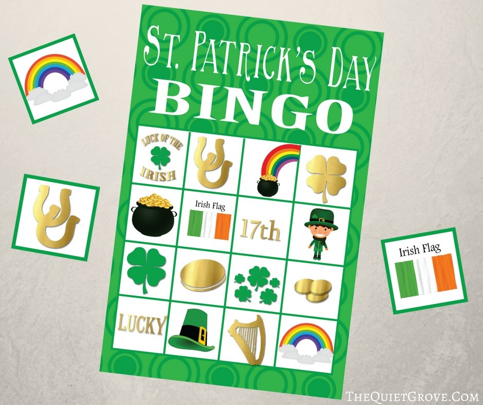 graphic about St Patrick's Day Bingo Printable titled No cost Printable St. Patricks Working day BINGO ⋆ The Serene Grove