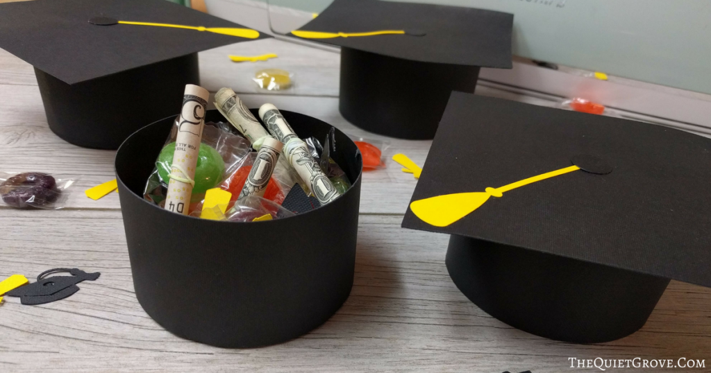 Diy Graduation Cap Gift Boxes The Quiet Grove