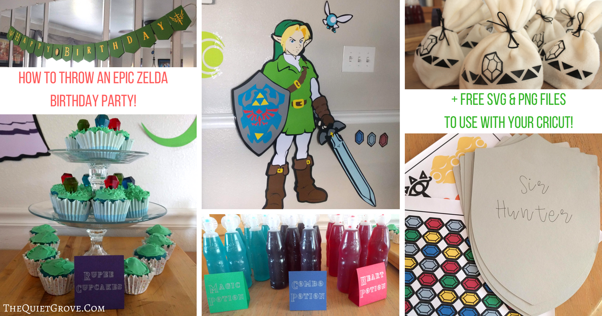 How To Throw An Epic Zelda Birthday Party Free SVG PNG Files