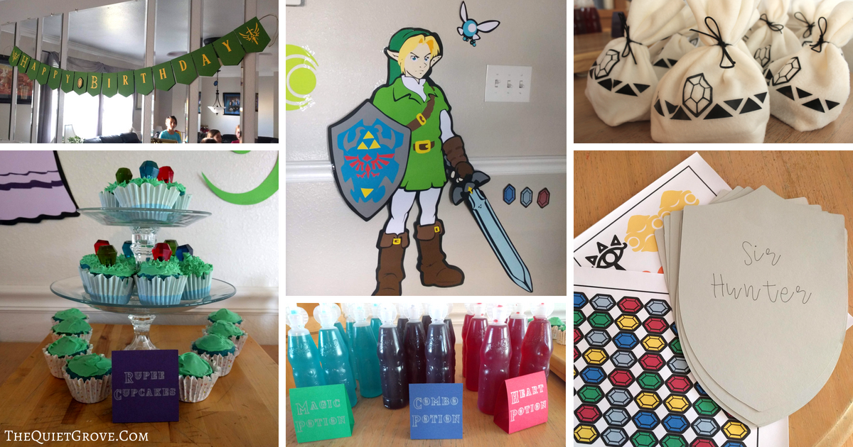 How to throw an Epic Zelda Birthday Party! (+ Free SVG & PNG Files