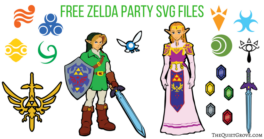 How To Throw An Epic Zelda Birthday Party Free Svg Png Files The Quiet Grove