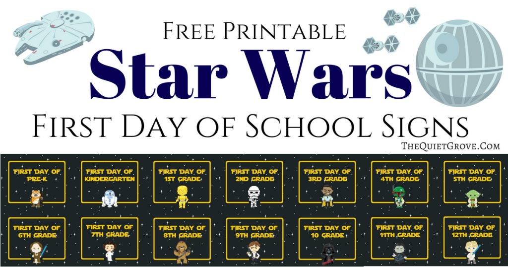 photo about First Day of 3rd Grade Sign Printable identify Free of charge Printable Star Wars Initially Working day of University Indications ⋆ The