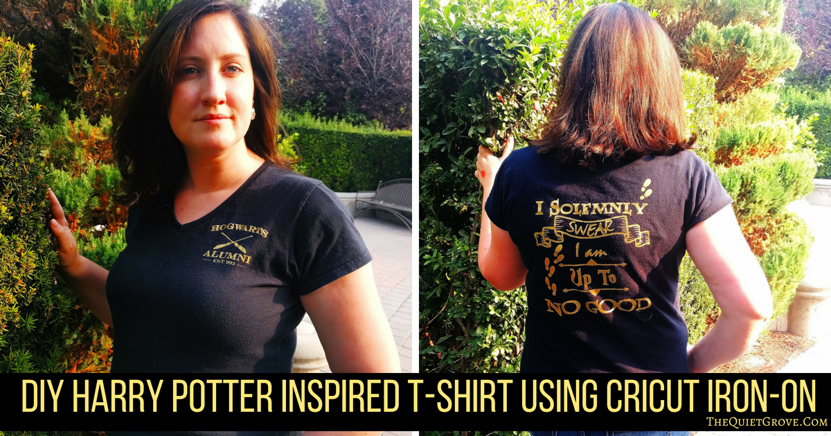 Diy Harry Potter Inspired T Shirt Using Cricut Iron On