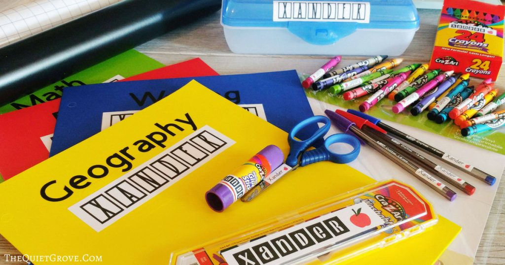 Easy DIY Back to School Labels Made with a Cricut ⋆ The