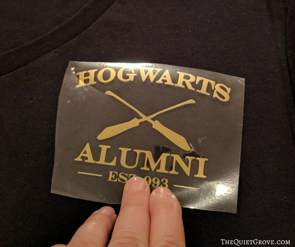 DIY Harry Potter Inspired T-Shirt Using Cricut Iron-on ⋆ The Quiet