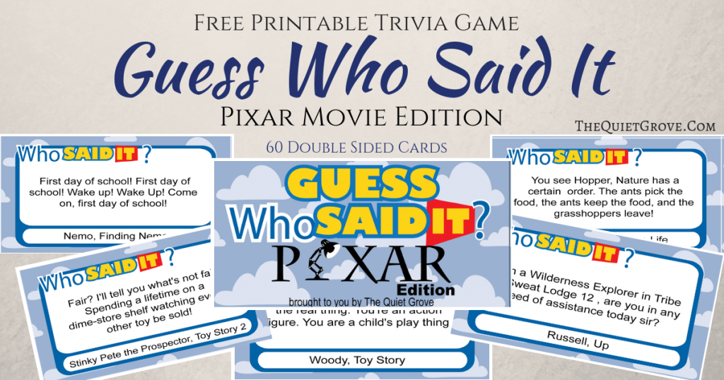 picture regarding Guess Who Printable known as Cost-free Printable Wager Who Explained It Pixar Version ⋆ The Tranquil
