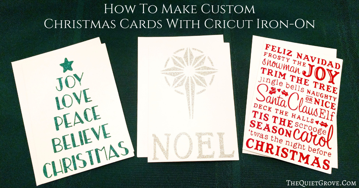 How To Make Custom Christmas Cards With Cricut Iron-On ⋆ The Quiet ...