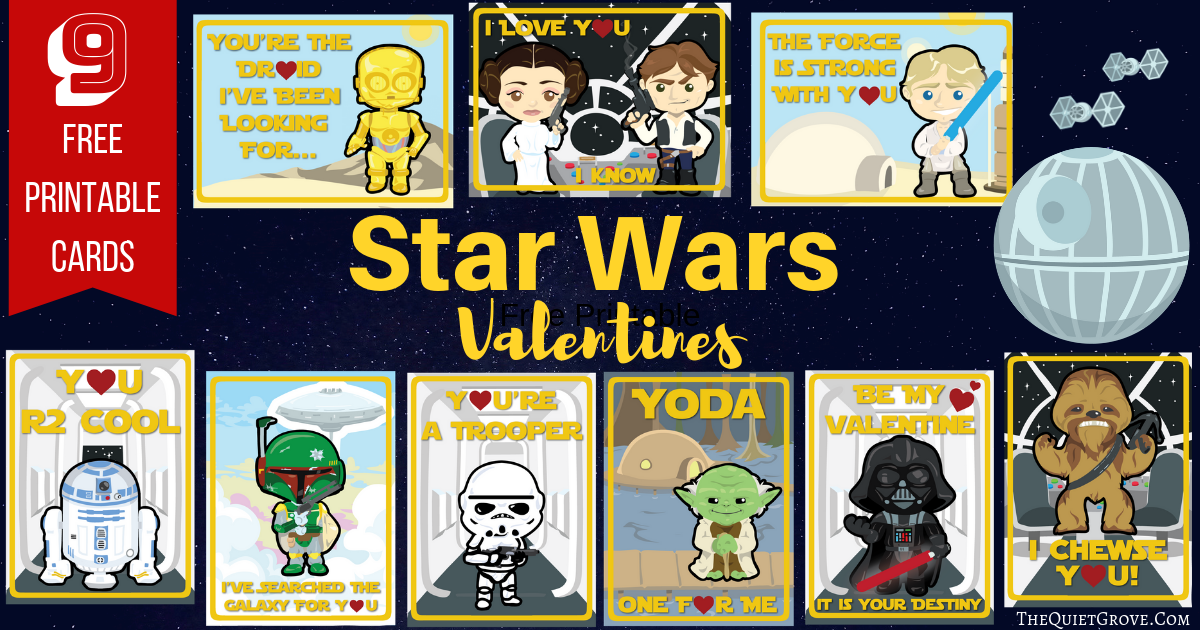 photo about Star Wars Clip Art Free Printable known as Totally free Printable Star Wars Valentines ⋆ The Serene Grove