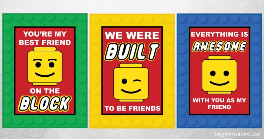 graphic about Lego Printable referred to as Absolutely free Printable Lego Valentines ⋆ The Calm Grove