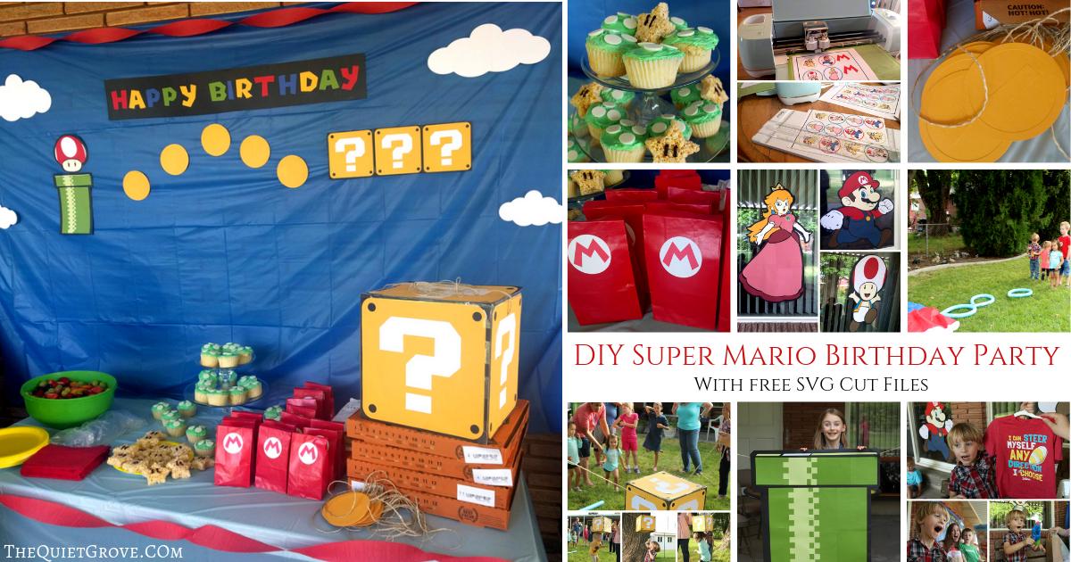Diy Super Mario Birthday Party With Free Svg Cut Files
