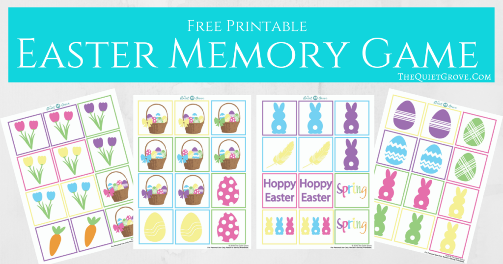 photo about Printable Memory Game called No cost Printable Easter Memory Video game ⋆ The Serene Grove