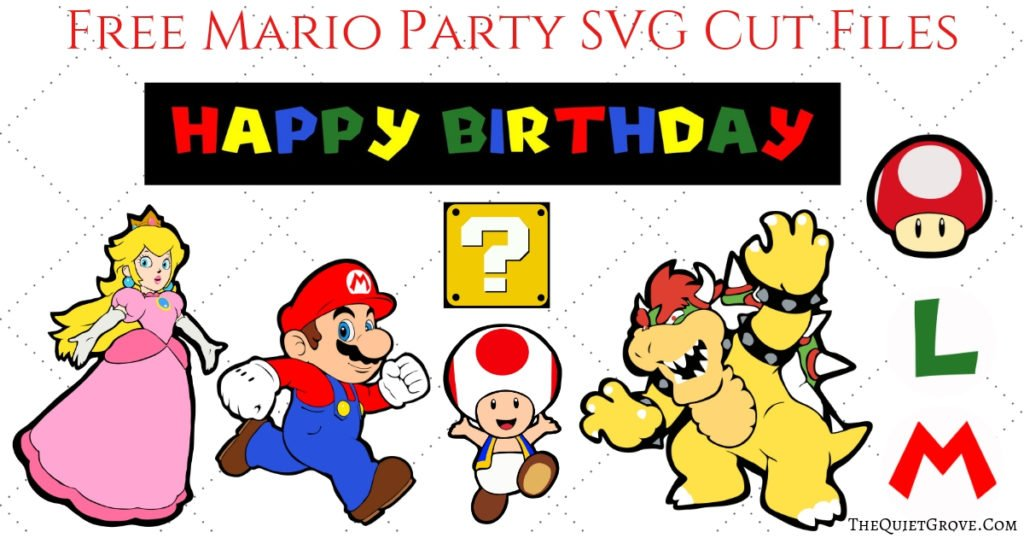 Diy Super Mario Birthday Party With Free Svg Cut Files The