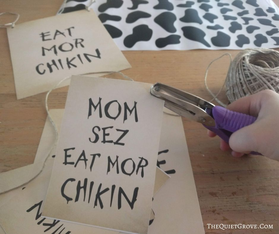 photograph regarding Eat Mor Chikin Printable Sign called No cost Printable Cow Appreciation Working day Gown Indicators ⋆ The