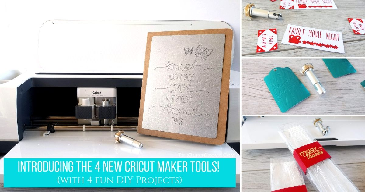 Introducing The 4 New Cricut Maker Tools With 4 Fun Diy Projects The Quiet Grove