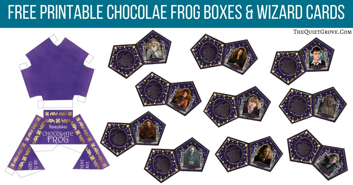 Diy Chocolate Frog Boxes Wizard Cards With Free