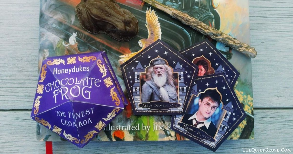 picture regarding Harry Potter Chocolate Frog Cards Printable named Do-it-yourself Chocolate Frogs