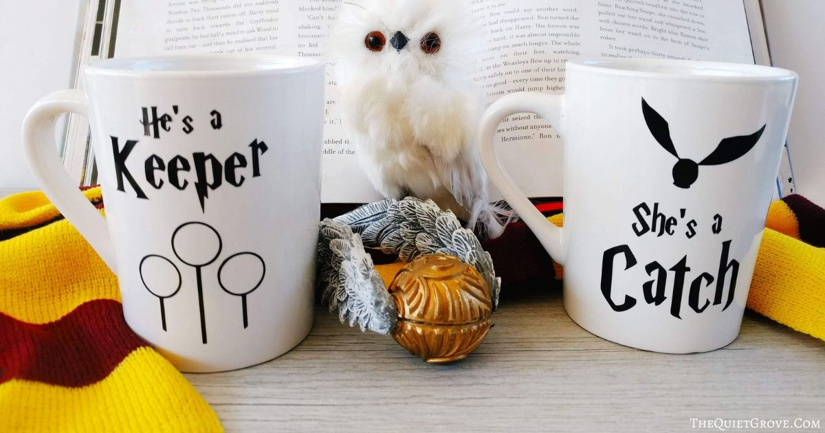 Diy Harry Potter Mugs With Romantic Quidditch Theme