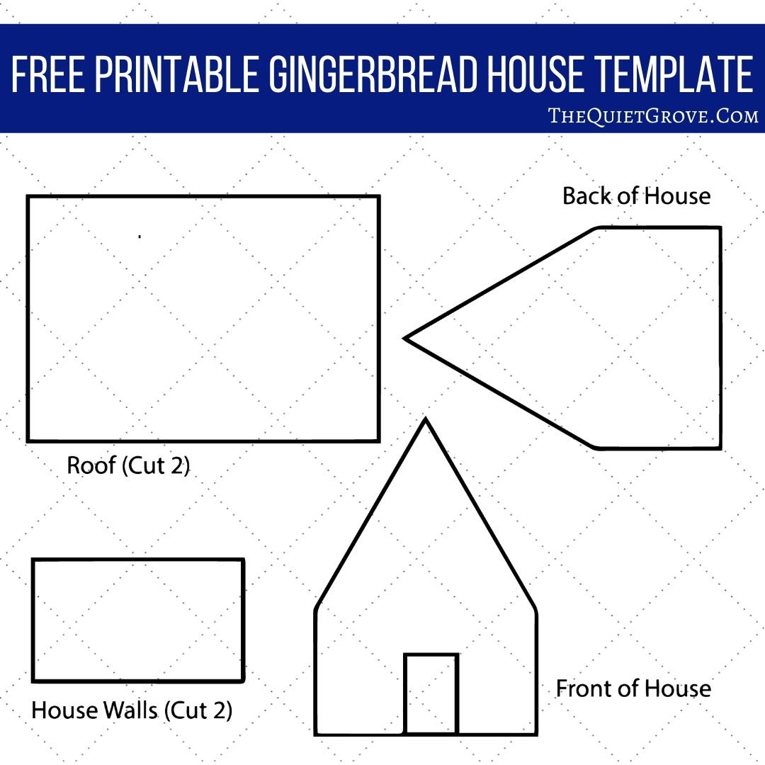 cut out gingerbread house template printable  7 Steps for Making a Gingerbread House From Scratch: Without ...